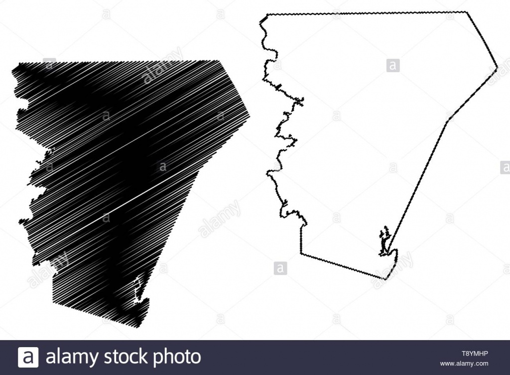 Burnet County, Texas (Counties In Texas, United States Of America - Texas County Map Vector