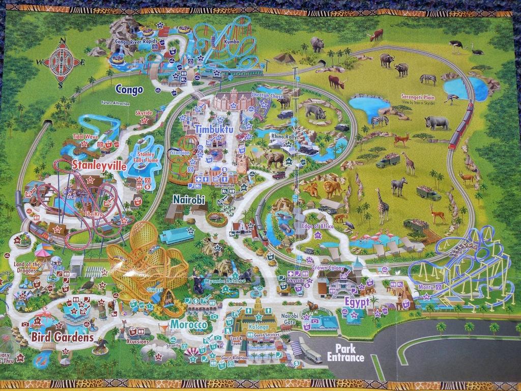 Busch Gardens Africa Map - 10001 N Mckinley Drive Tampa Fl 33612 - Florida Busch Gardens Map