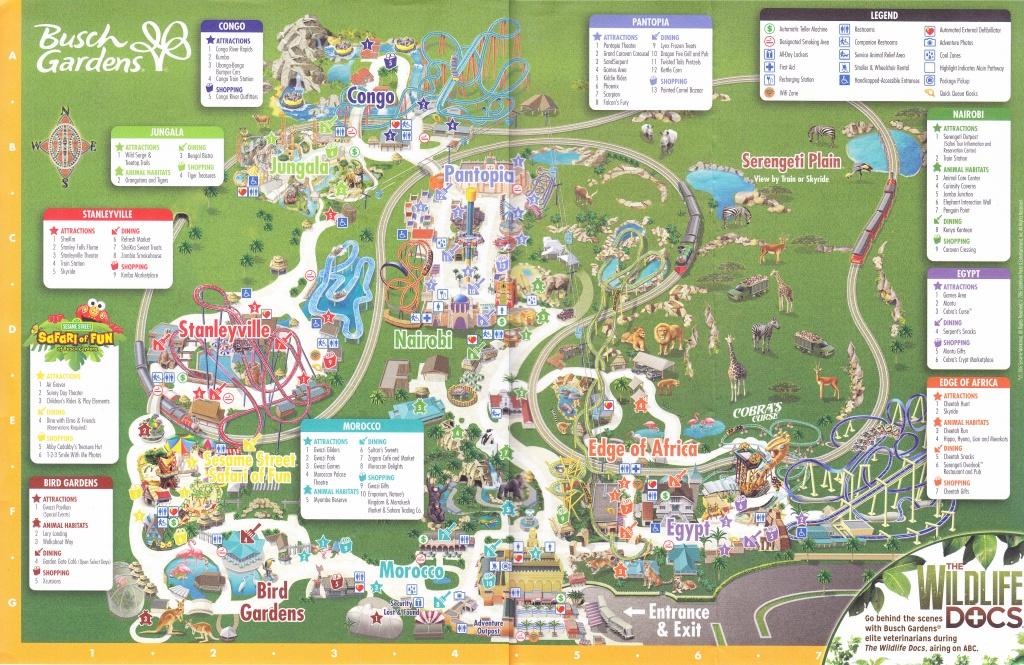 Busch Gardens Tampa - 2016 Park Map - Busch Gardens Florida Map