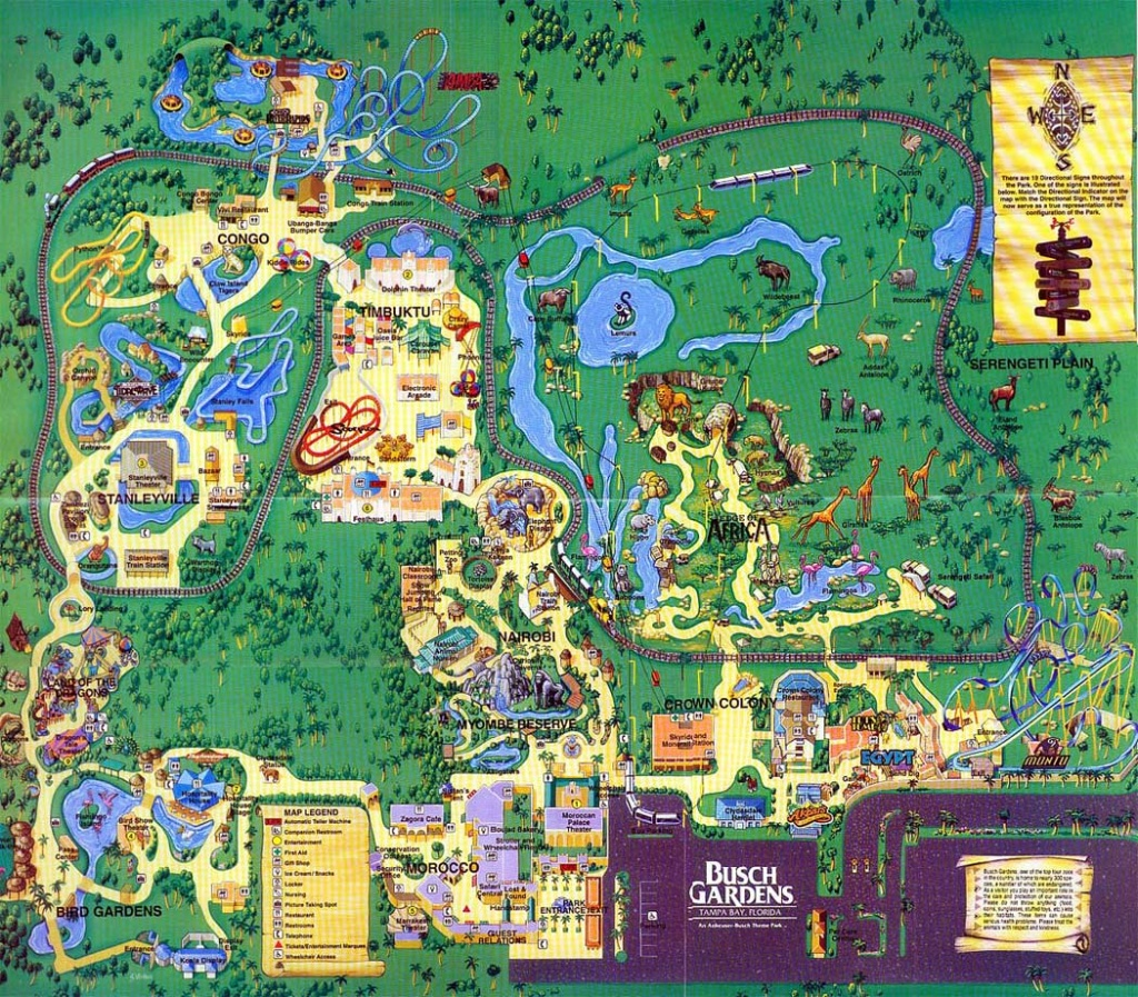 Busch Gardens, Tampa Bay Fl   Busch Gardens - Busch Gardens Florida Map