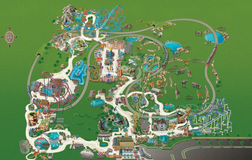 Busch Gardens Tampa Bay Park Map May 2017   Places In 2019   Busch - Busch Gardens Florida Map