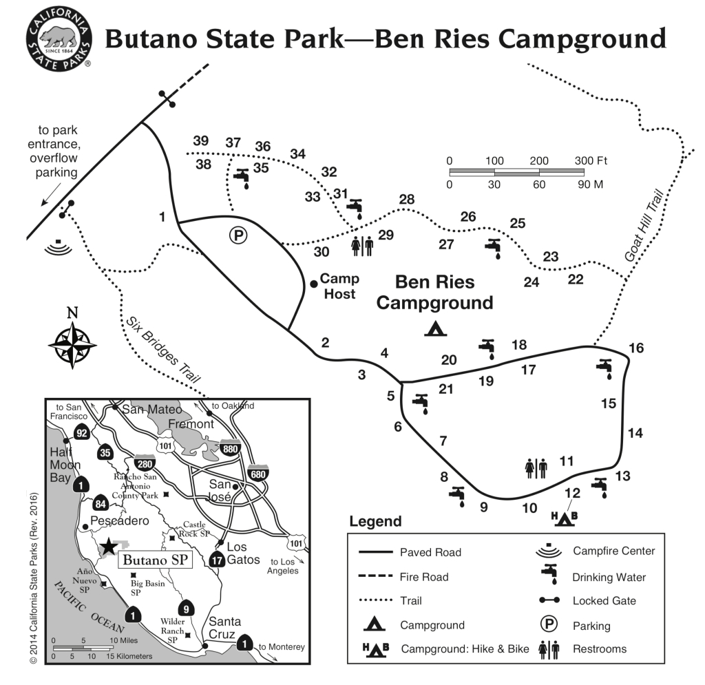 Butano State Park - Campsite Photos, Campground Info & Reservations - California State Parks Camping Map