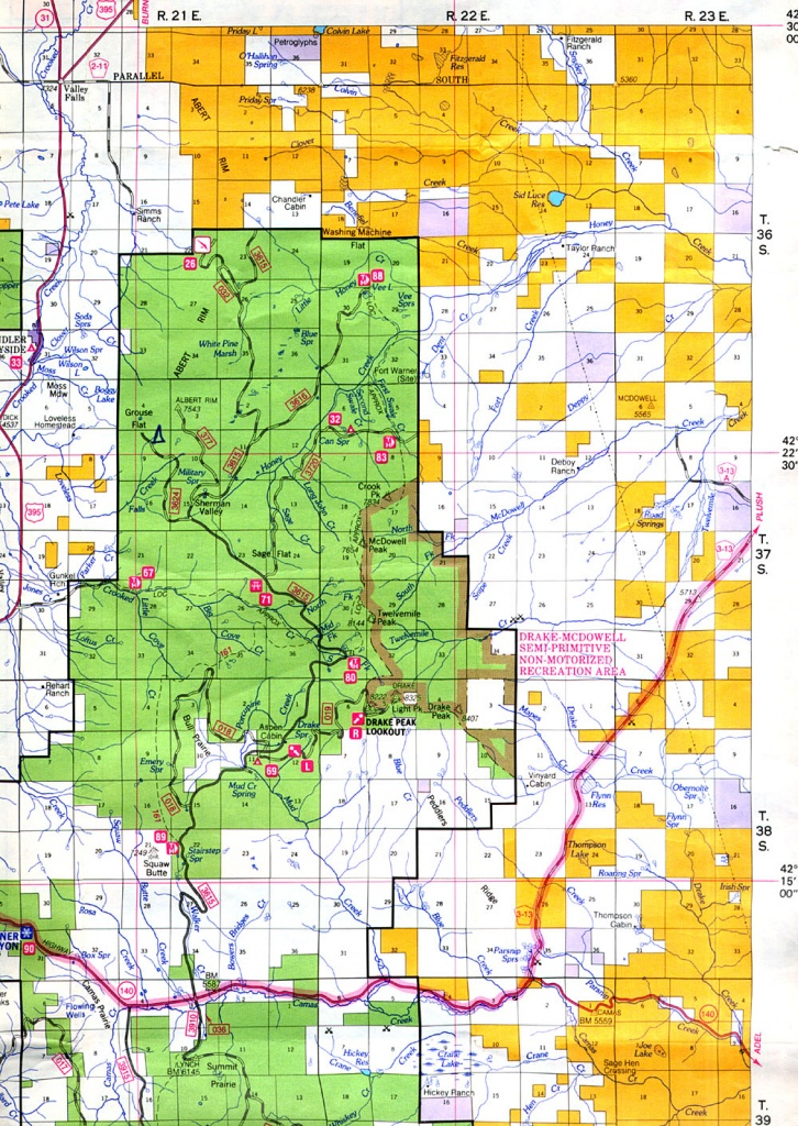Buy And Find Oregon Maps: Bureau Of Land Management: Statewide Index - Blm Land Map Southern California