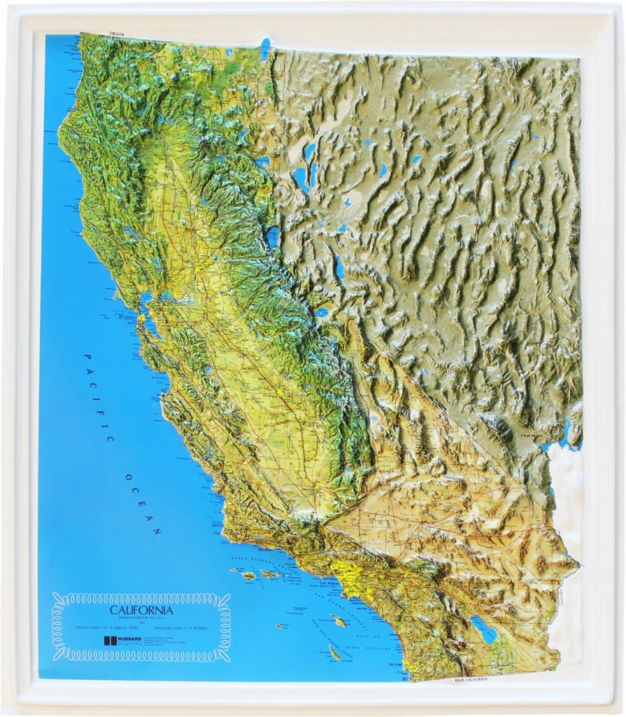 Buy California Relief Map   Flagline - Buy Map Of California