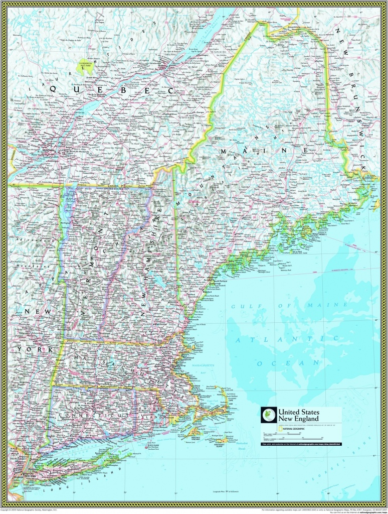 Buy Map Of New England | Download Them And Print - Printable Map Of New England States