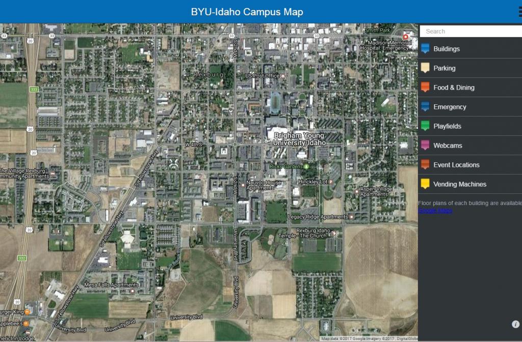 Byu Campus Map   Ageorgio - Byu Campus Map Printable