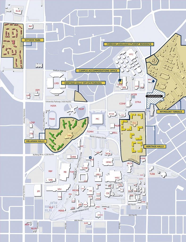 Byu Campus Map   Byu   Campus Map, College, College Life - Byu Campus Map Printable