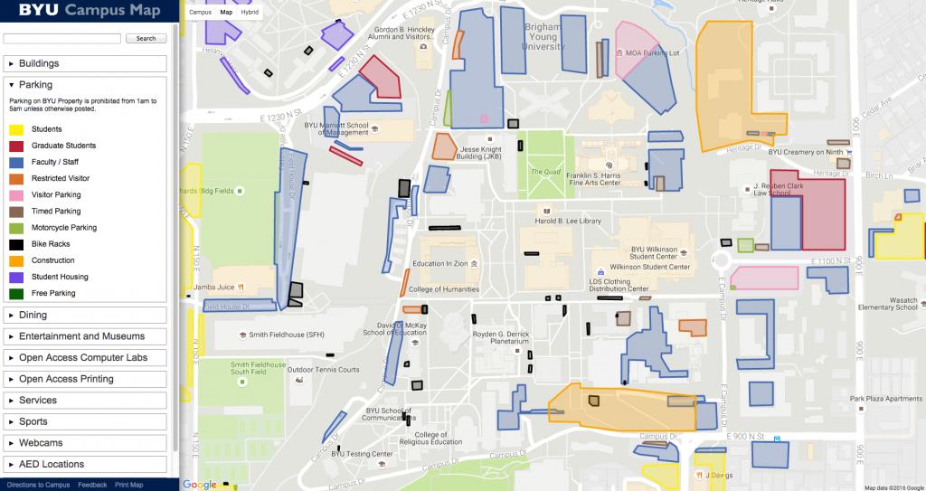 Byu Campus Map Pdf   Woestenhoeve - Byu Campus Map Printable