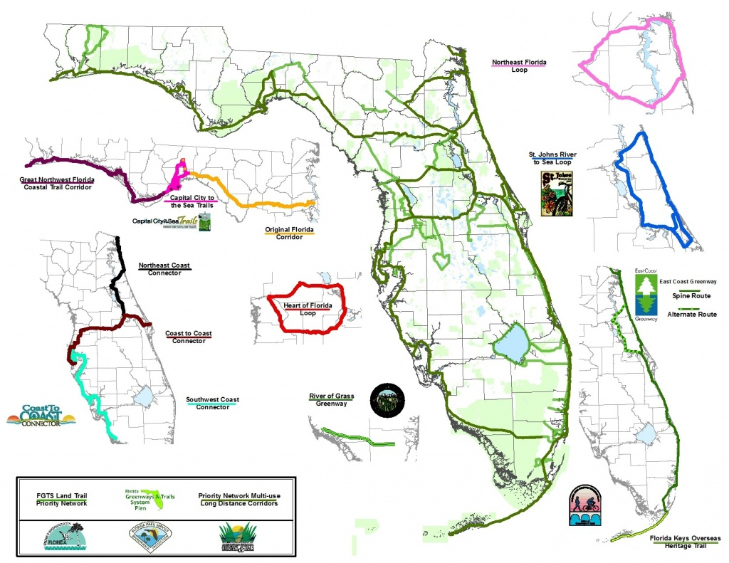 C2C: Only The Beginning Of Florida Trails   Bike/walk Central Florida - Florida Greenways And Trails Map
