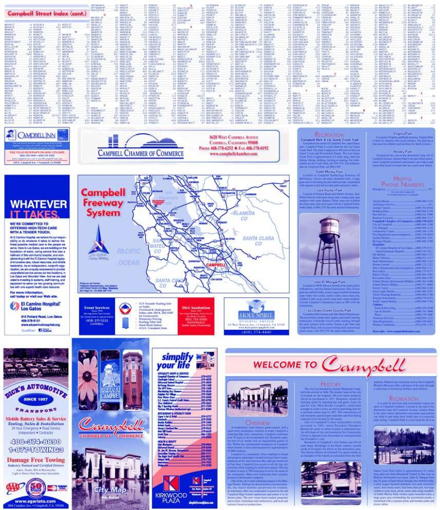 Calaméo - City Of Campbell California Street Map - Campbell California Map
