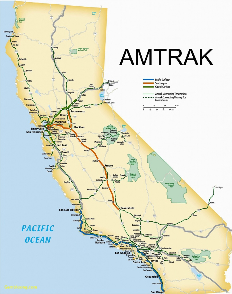 California Amtrak Stations Map California Amtrak Route Map Www - Amtrak Station Map California