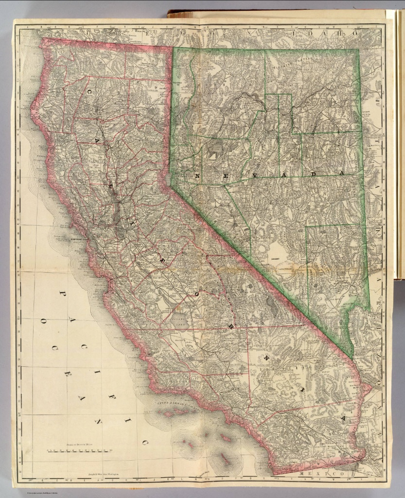 California And Nevada) / Rand Mcnally And Company / 1879 - Rand Mcnally California Map