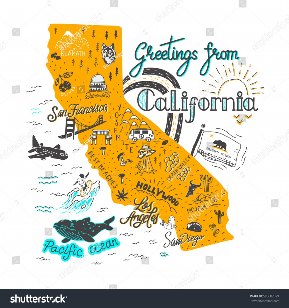 California Attractions Map | Dehazelmuis - California Sightseeing Map