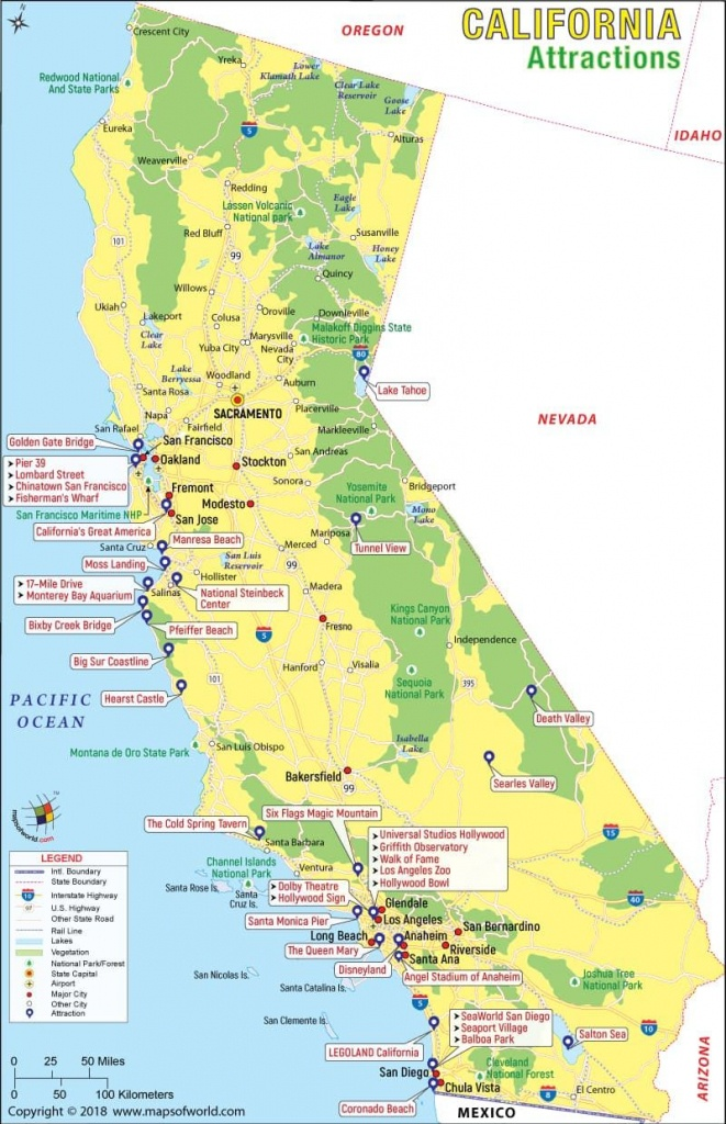California Attractions Map | Travel In 2019 | California Attractions - California Tourist Map