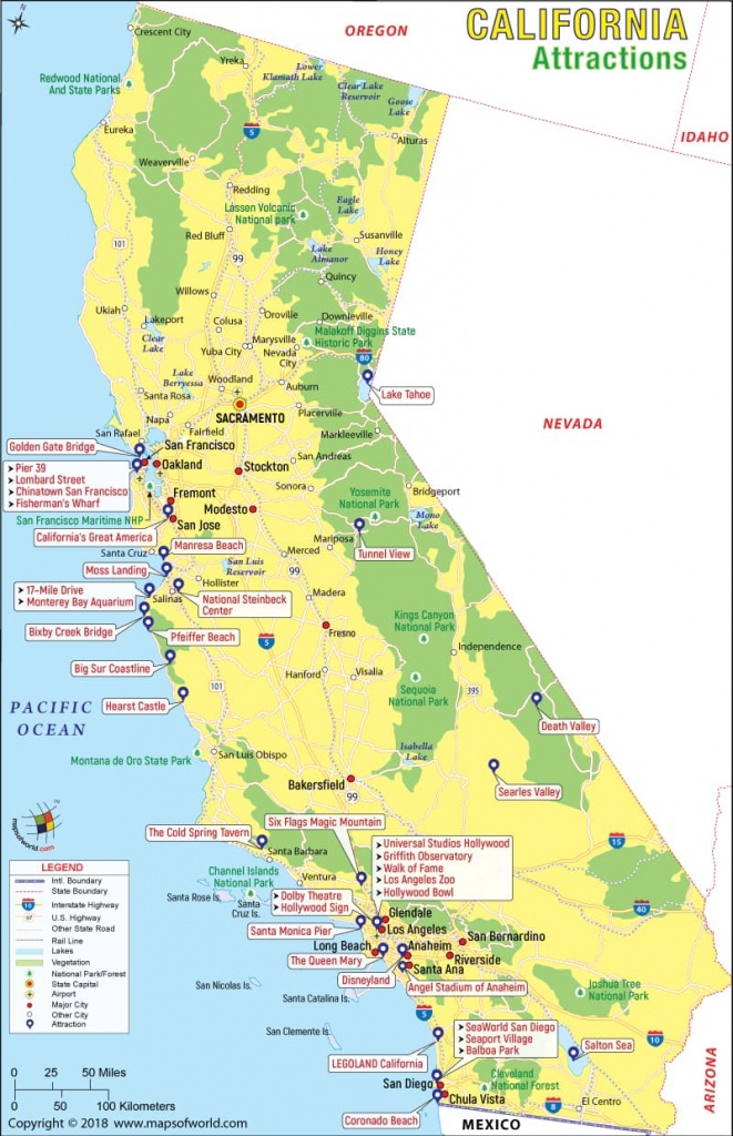 California Attractions, Things To Do In California And Places To Visit - California Things To Do Map