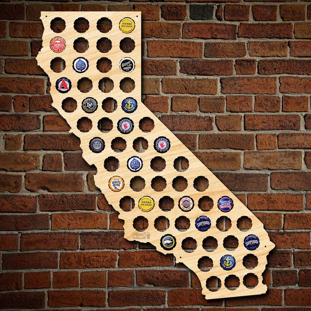 California Beer Cap Map - California Beer Cap Map
