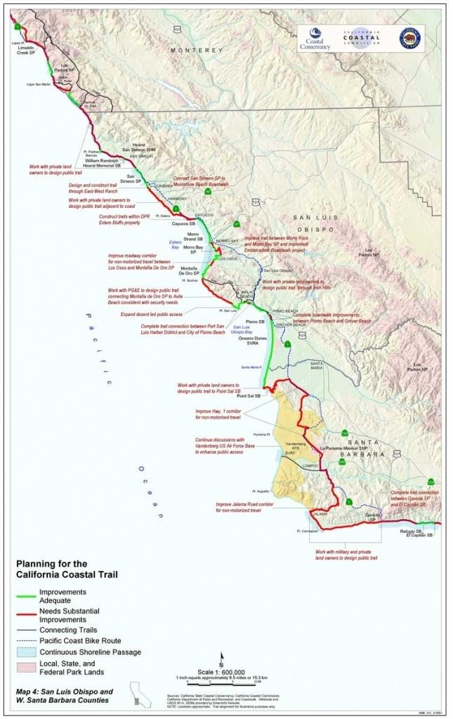 California Coast Bike Route Map – Map Of Usa District - California Coast Bike Route Map