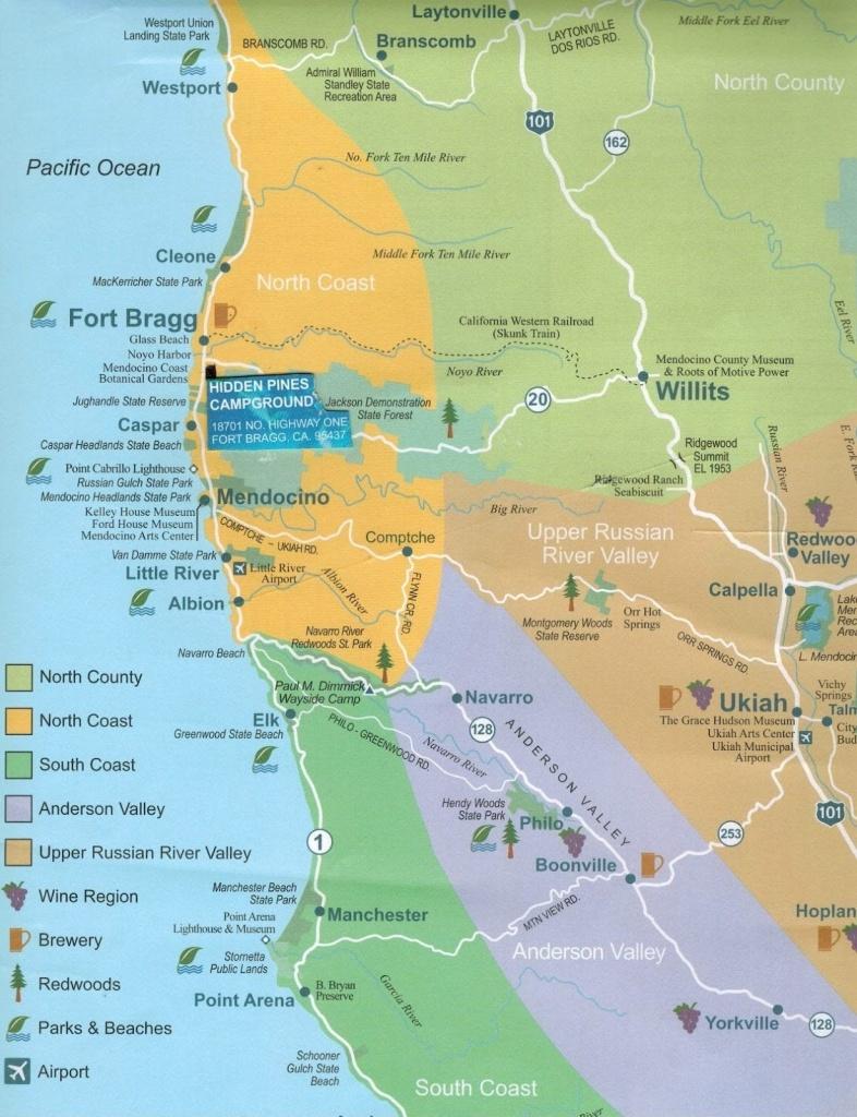 California Coast Rv Camping Map – Map Of Usa District - California Camping Map
