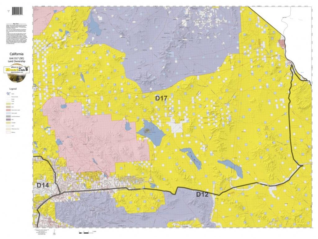 California Deer Hunting Zone D17(Se) Map - Huntdata Llc - Avenza Maps - California Deer Zone Map 2018