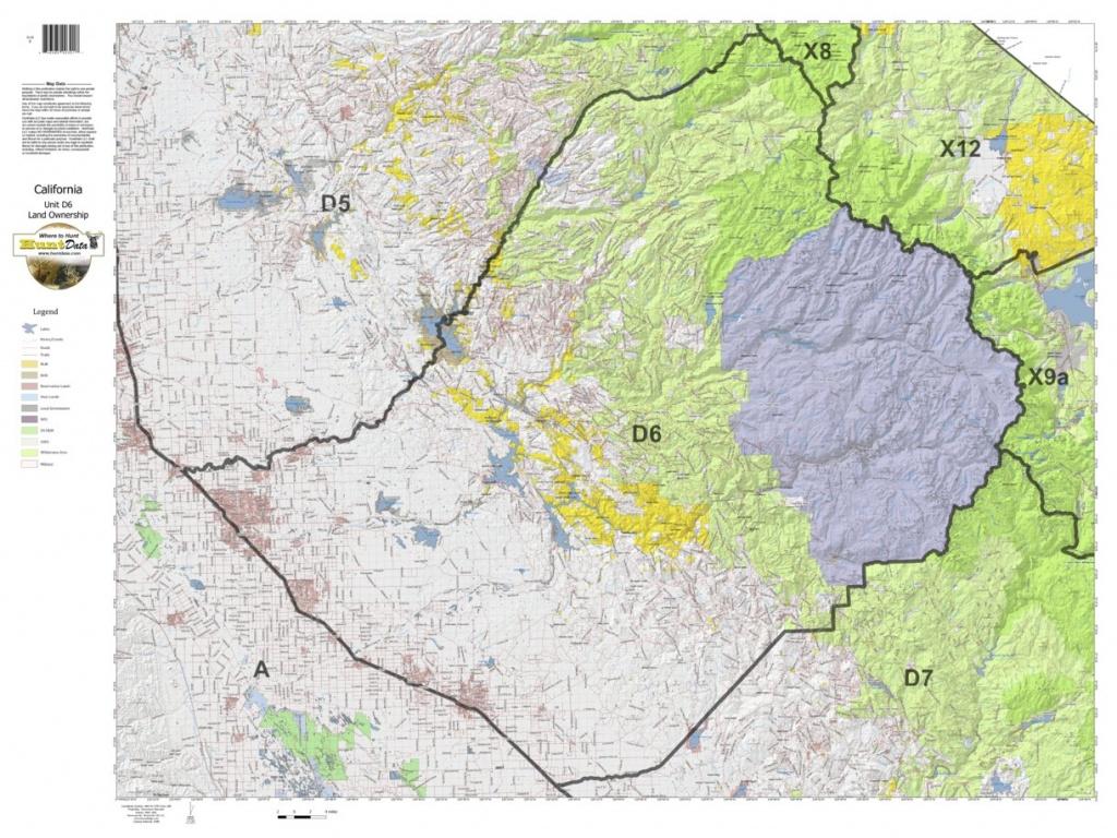 California Deer Hunting Zone D6 Map - Huntdata Llc - Avenza Maps - California Hunting Map
