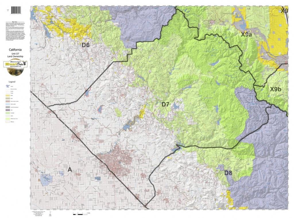 California Deer Hunting Zone D7 Map - Huntdata Llc - Avenza Maps - Map Of Hunting Zones In California