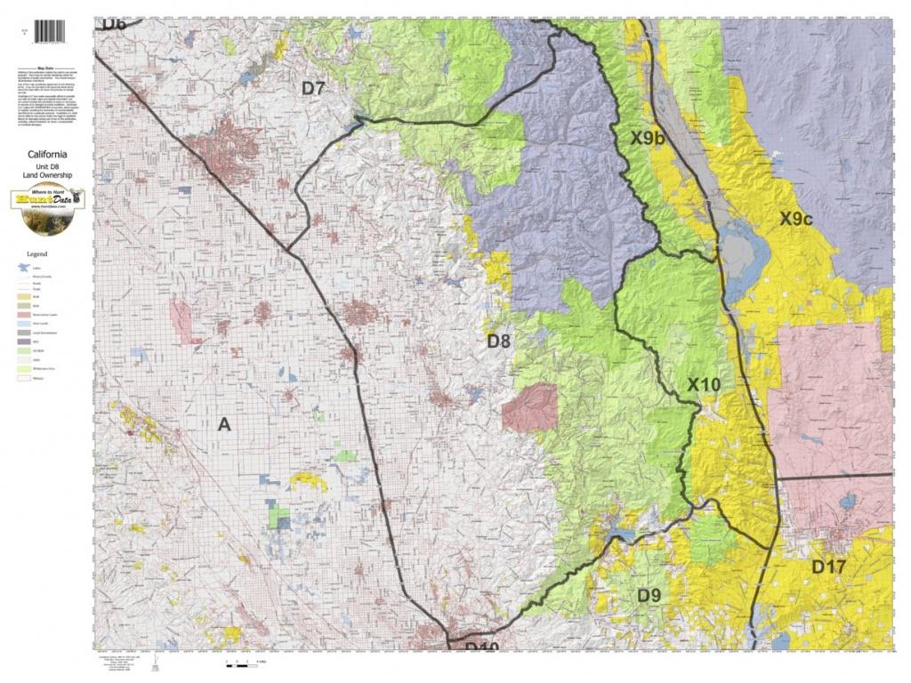 California Deer Hunting Zone D8 Map - Huntdata Llc - Avenza Maps - Map Of Hunting Zones In California