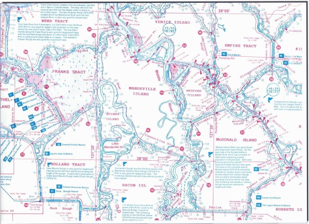 California Delta Maps-Fish N Map - Rio Vista Ca • Mappery - California Delta Bass Fishing Map