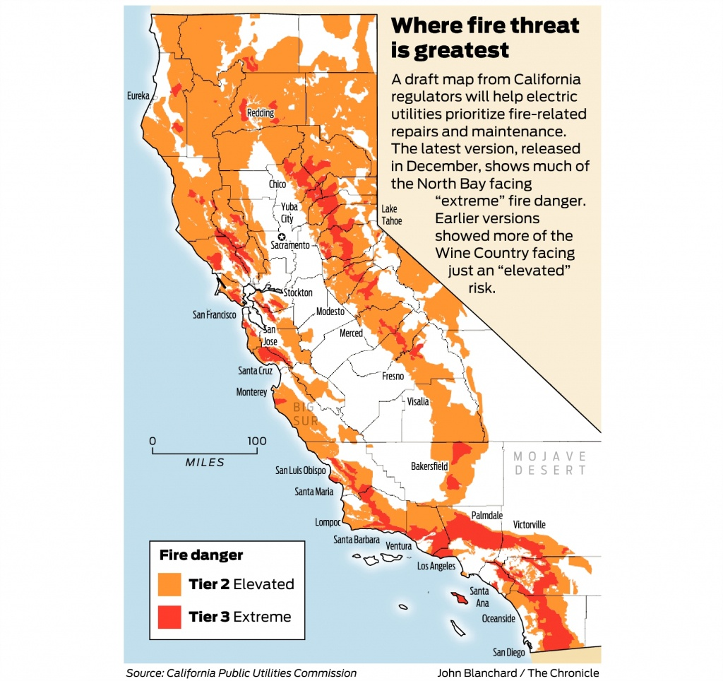 California Fire-Threat Map Not Quite Done But Close, Regulators Say - California Wildfires 2018 Map