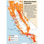 California Fire Threat Map Not Quite Done But Close, Regulators Say   Where Are The Fires In California On A Map