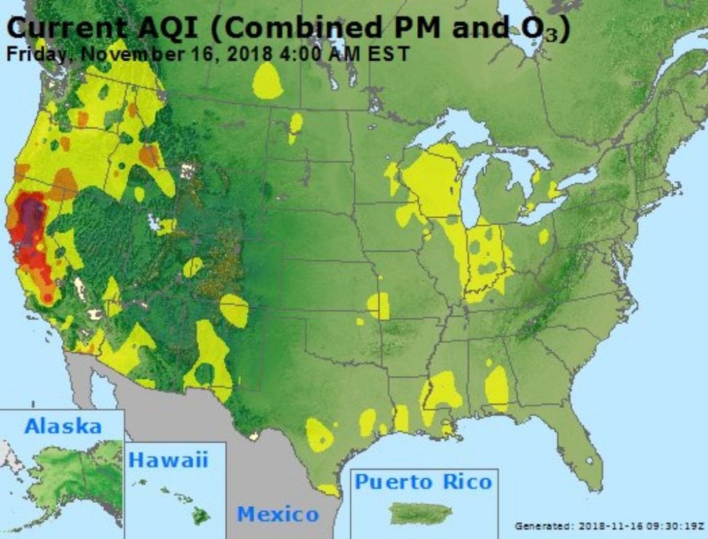 California Fires Air Quality Map: Pollution Update Shows Affected - Aqi Map California