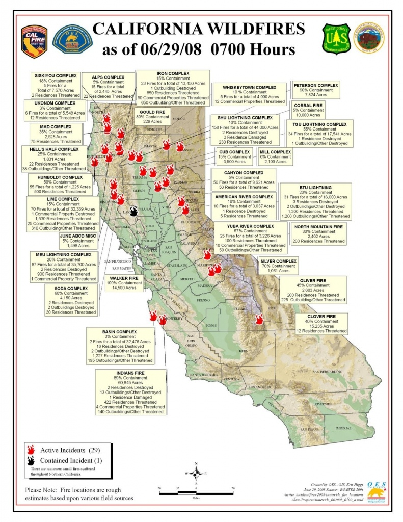 California Fires Map From Cal Fire & Oes June 29 | Firefighter Blog - Fires In California Right Now Map