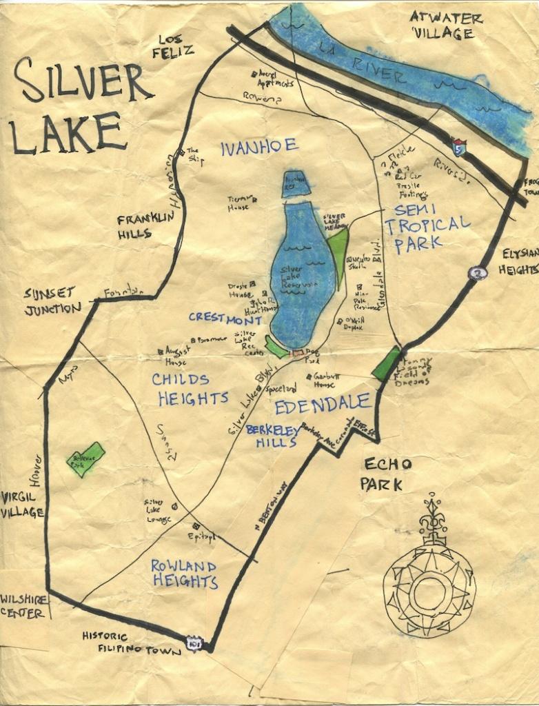 California Fool's Gold -- Exploring Silver Lake, Los Angeles's - Silver Lake California Map