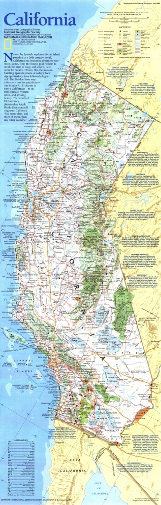 California Geographic Map - World Map - National Geographic Maps California