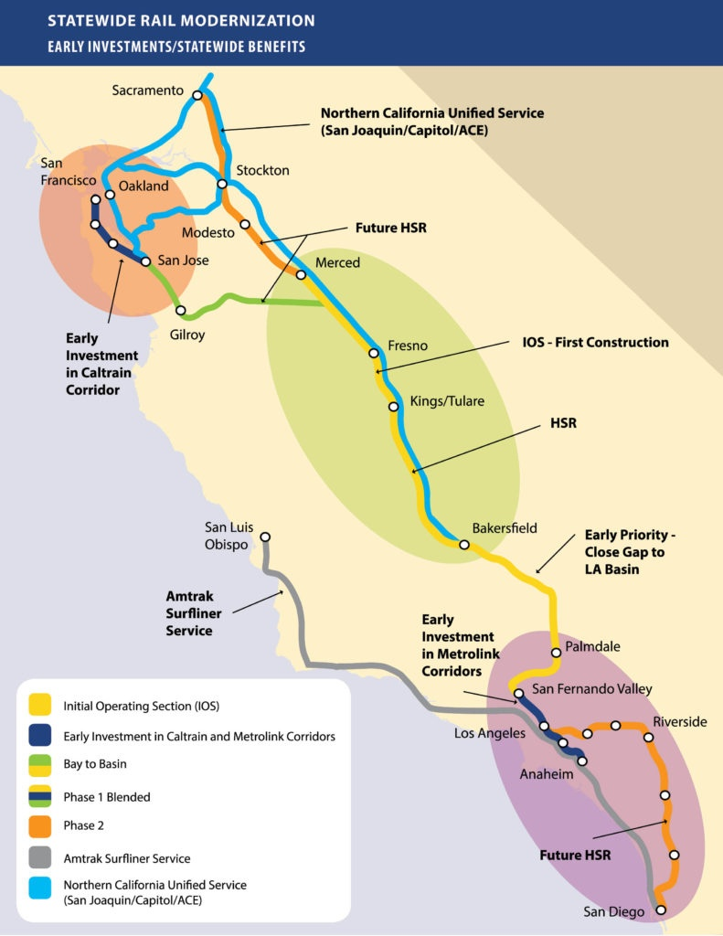 California Governor Newsome Wants To Complete High-Speed Rail From - California Bullet Train Map