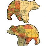 California Grizzly Bear Maps. | Maps, Maps, Maps | Bear Graphic   Bears In California Map