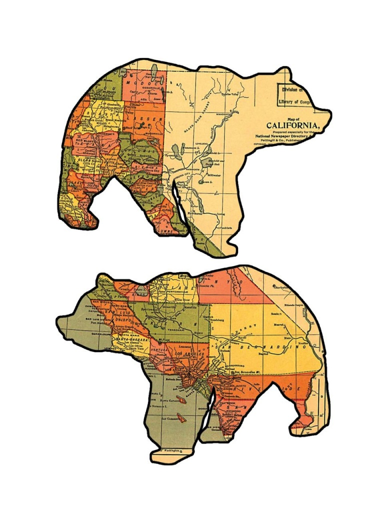 California Grizzly Bear Maps. | Maps, Maps, Maps | Bear Graphic - Bears In California Map