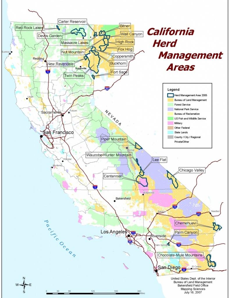 California - Herd Management Areas | Bureau Of Land Management - Blm Hunting Maps California