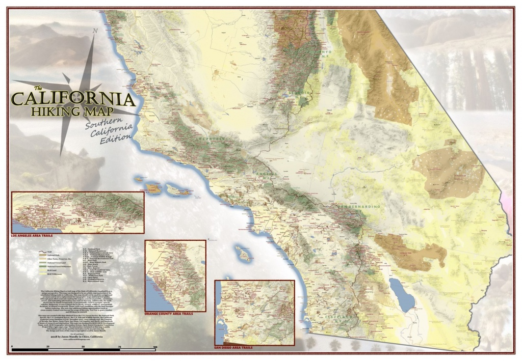 California Hiking Map - California Hiking Trails Map