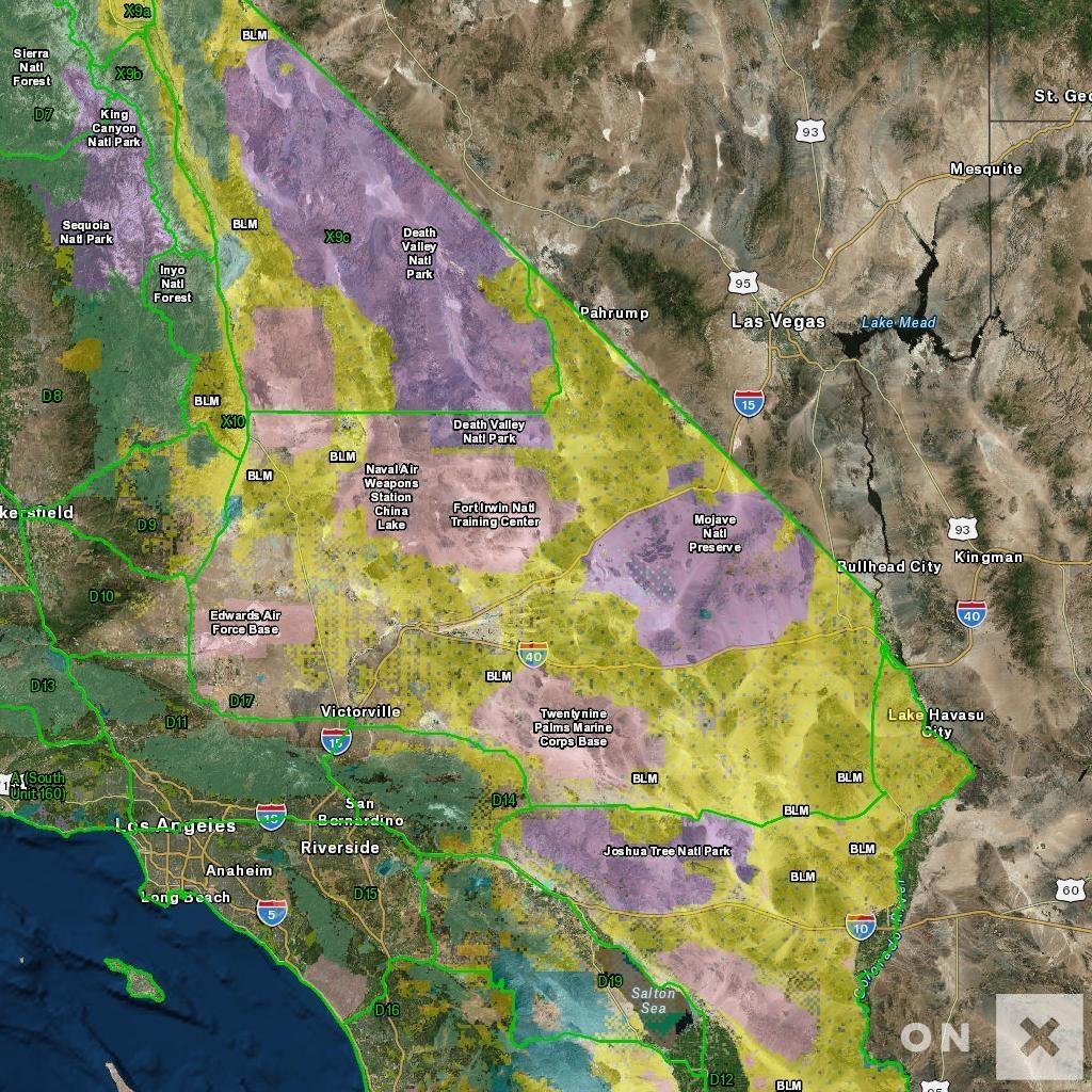 California Hunt Zone D17 Deer - Southern California Hunting Maps