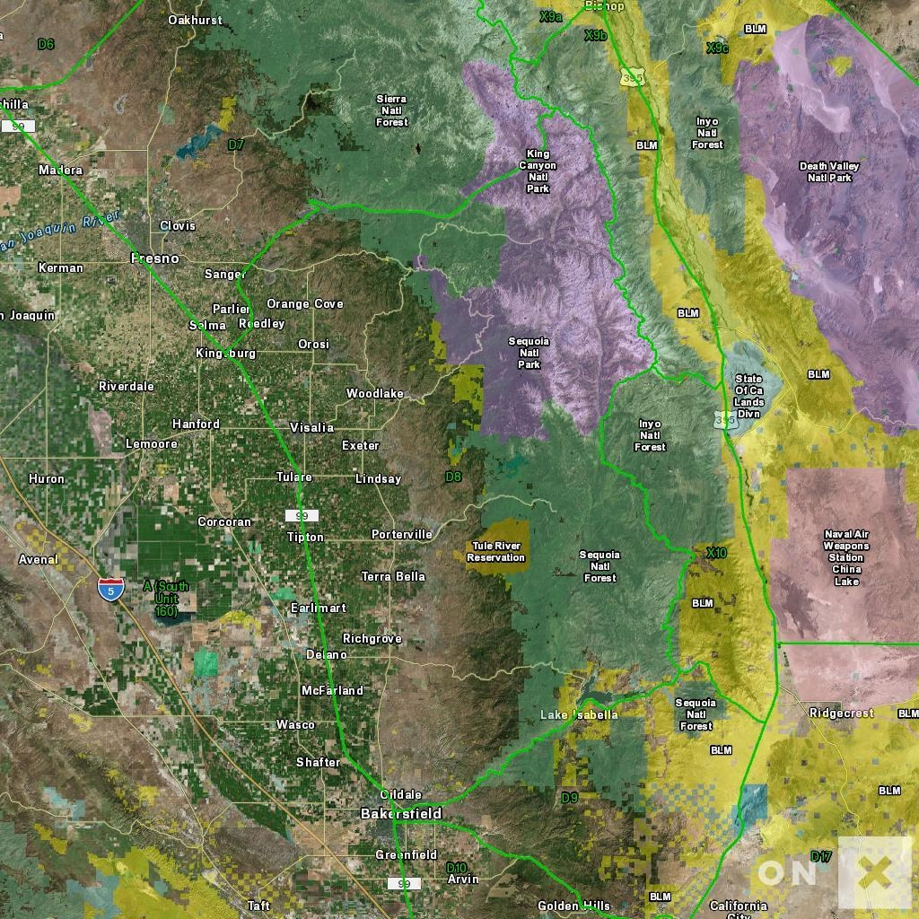 California Hunt Zone D8 Deer - California Deer Zone Map