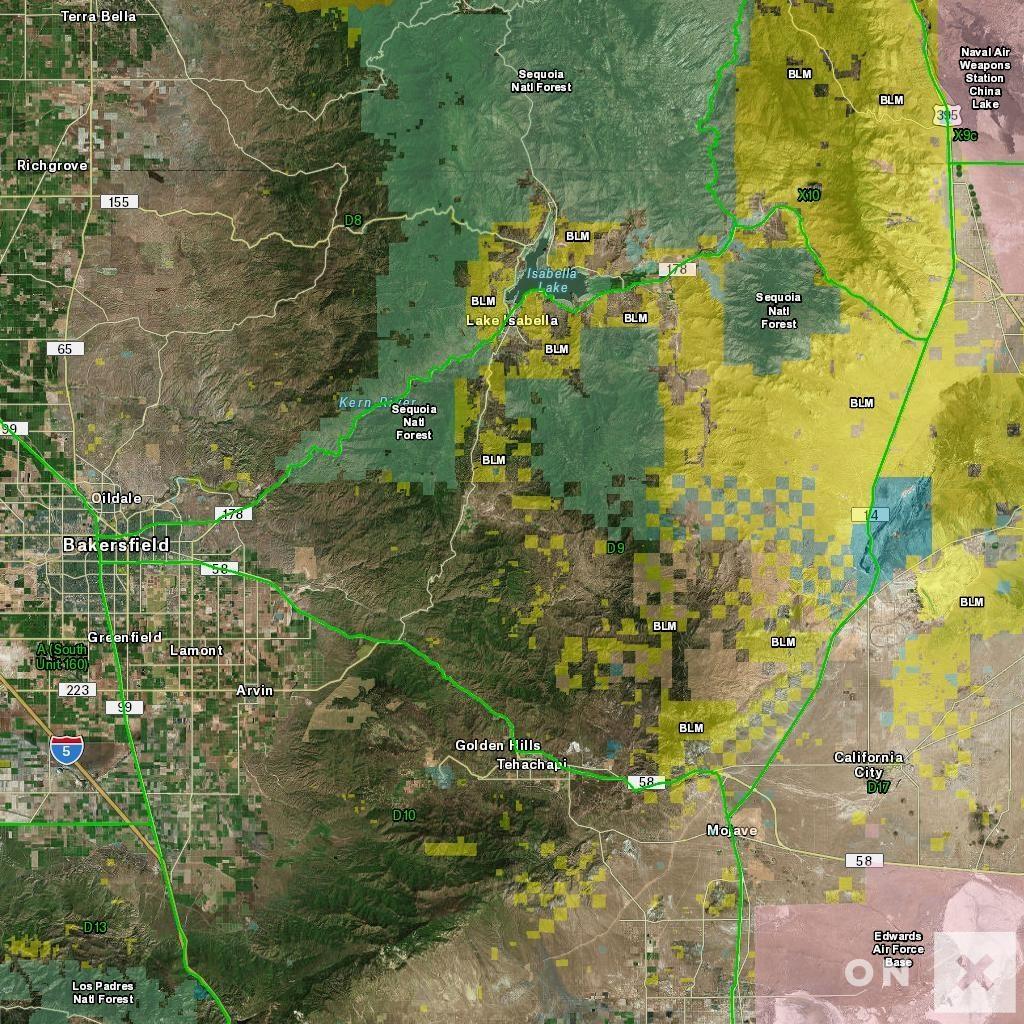 California Hunt Zone D9 Deer - Blm Hunting Maps California