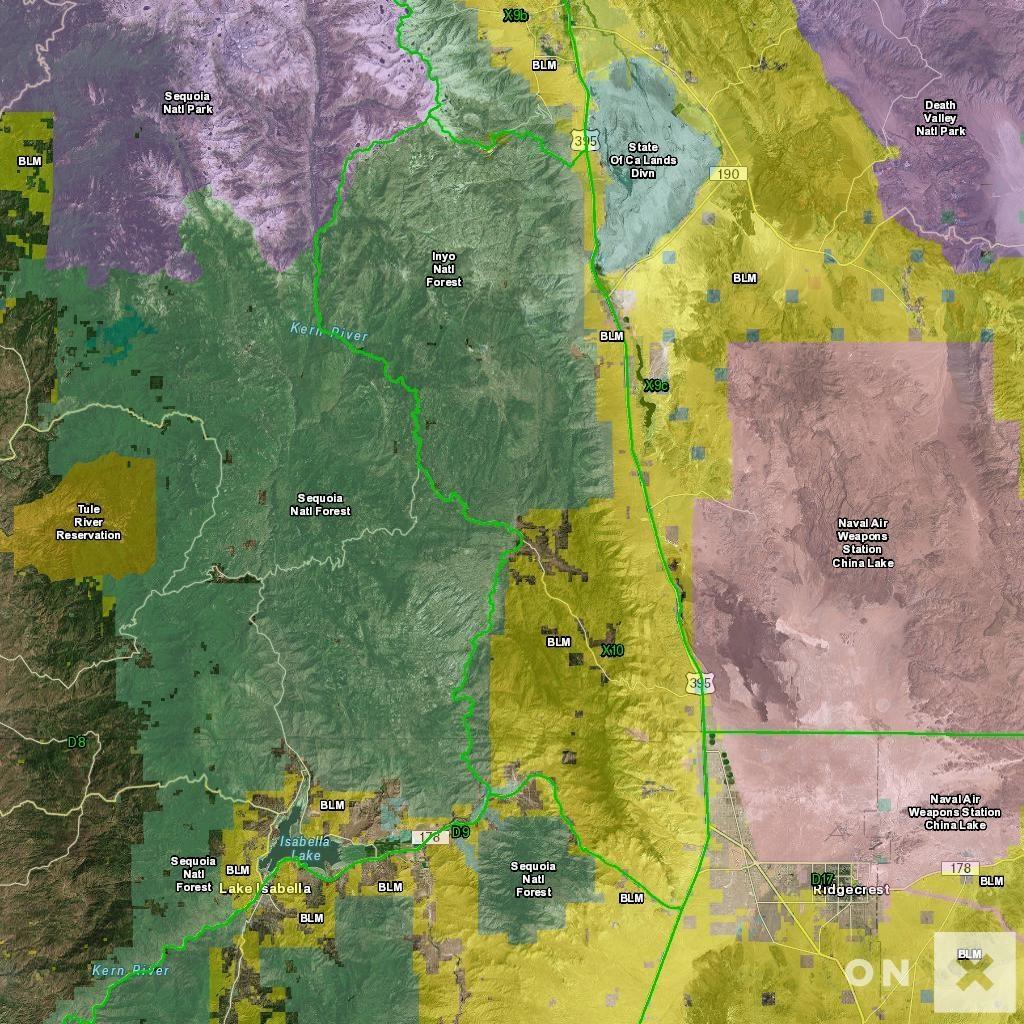 California Hunt Zone X10 Deer - California Lead Free Hunting Map