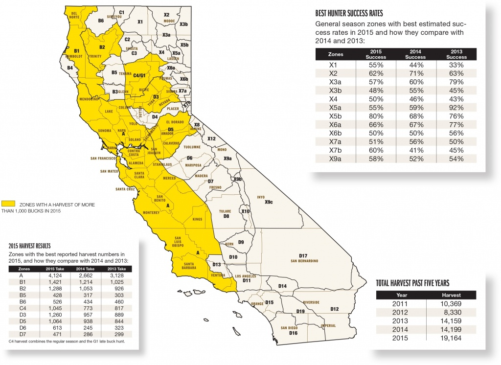 California Hunting Zone Map | Afputra In California Zone Map For - Deer Hunting Zones In California Maps