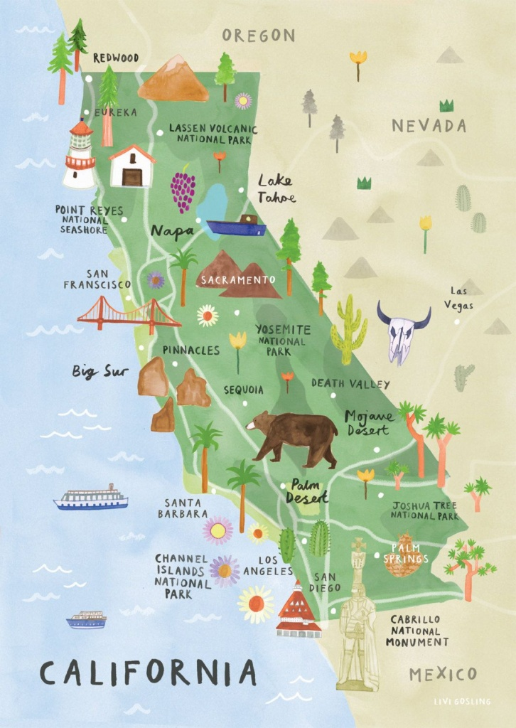 Southern California National Parks Map