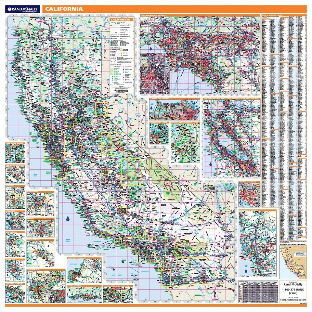 California Laminated State Wall Map - Laminated California Map