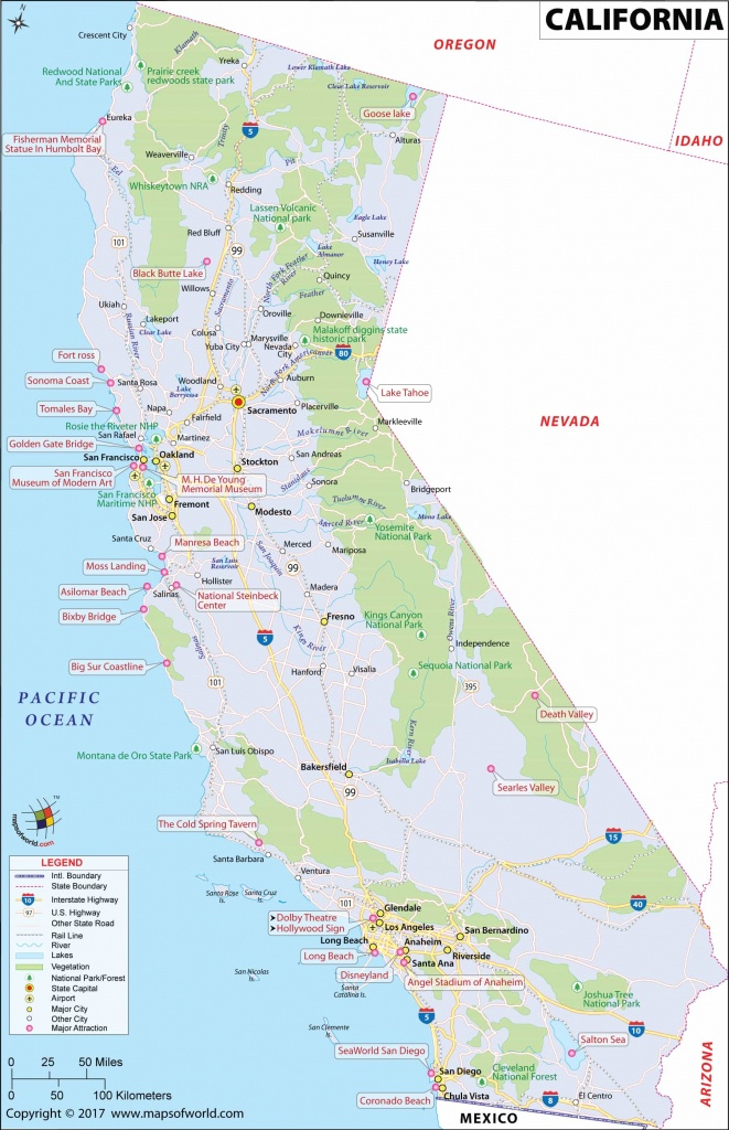 California Large Map(1800X3027): Hd Image & Picture - Large Map Of California