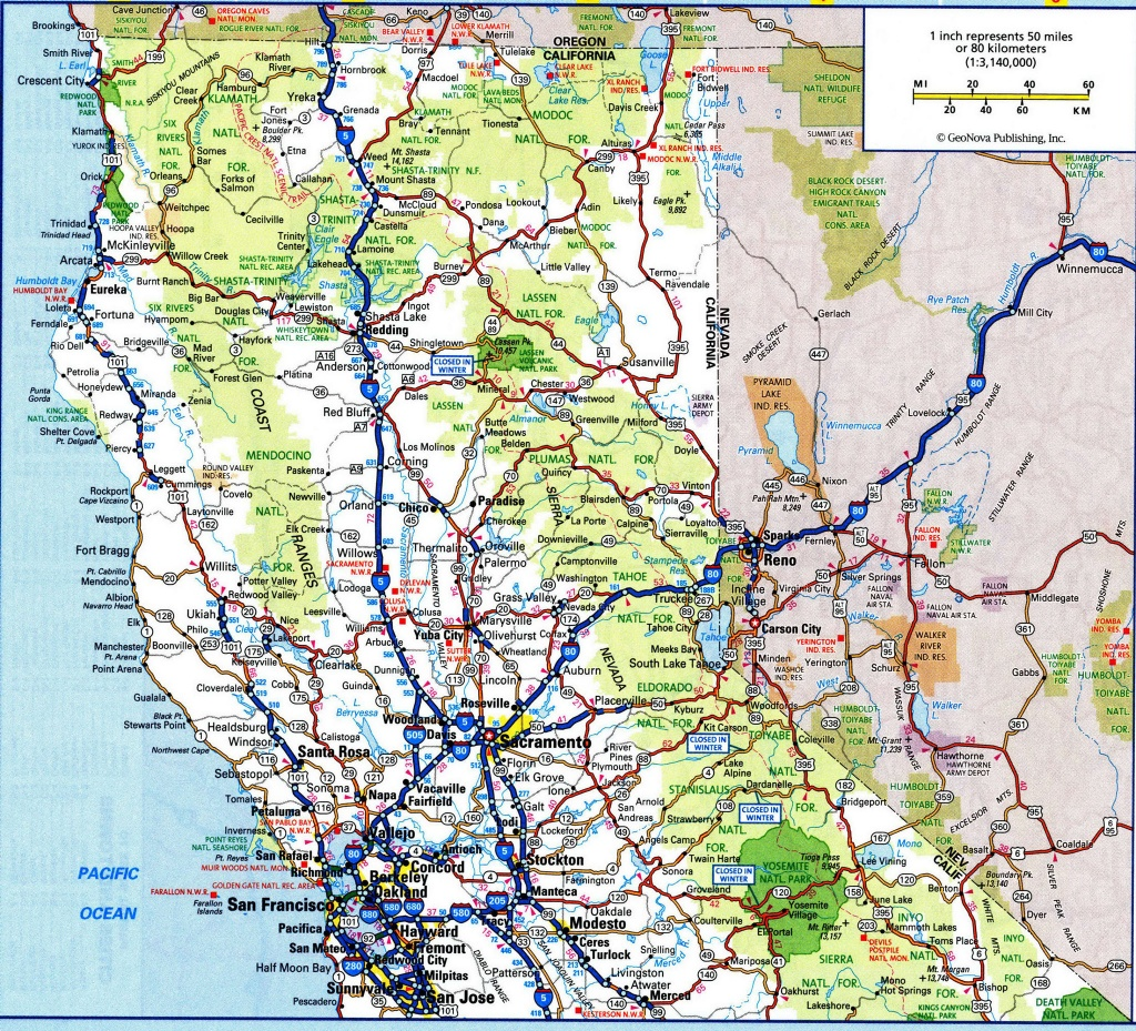 California Map Highway And Travel Information | Download Free - Northern California Highway Map