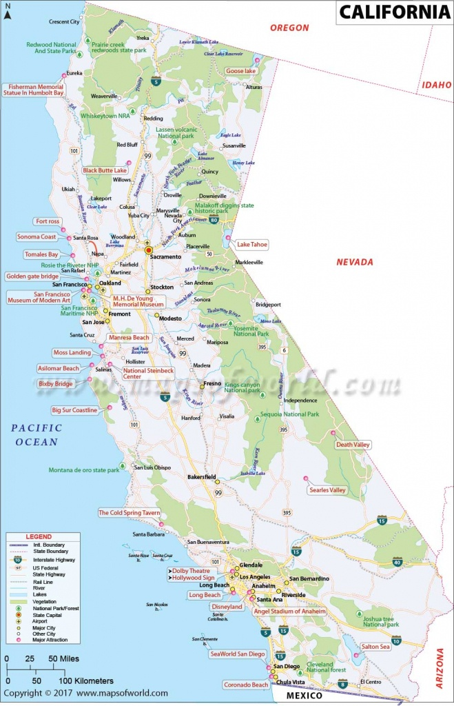 California Map | Map Of Ca, Us | Information And Facts Of California - Show Me A Map Of California