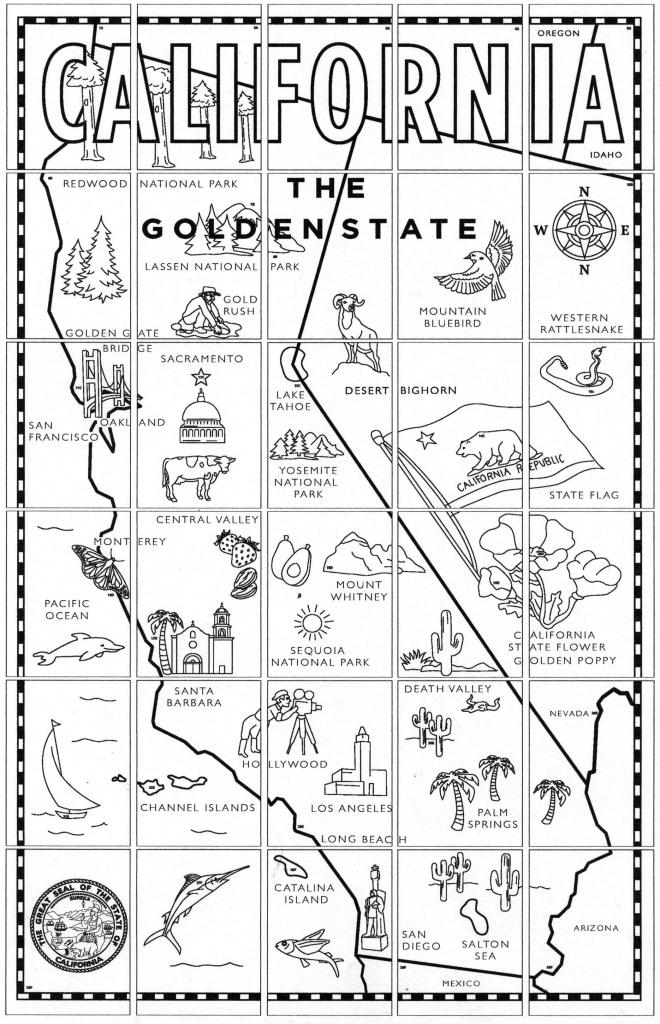 California Map Mural   *4Th Grade California   California Map, 4Th - California Regions Map Printable