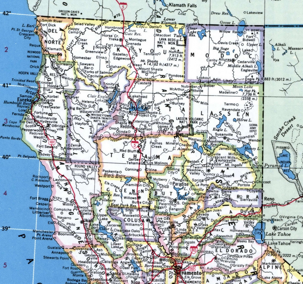 California Map Of Northern Cities – Map Of Usa District - Map Of Northern California Cities